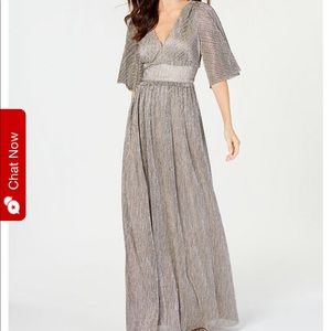 Adrianna Papell chainmail-knit gown
